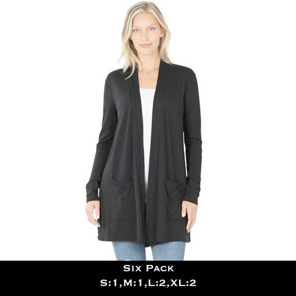 Slouchy Pocket Open Cardigan 1443