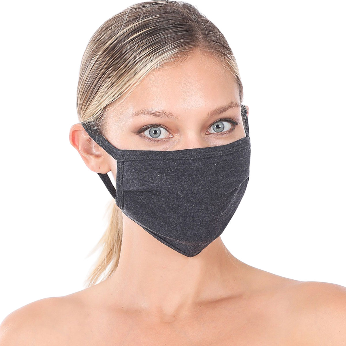 Protective Masks - Cotton Blend Two Ply CMK/CPMK - CHARCOAL Protective Masks- Cotton Blend Two Ply CMK:500