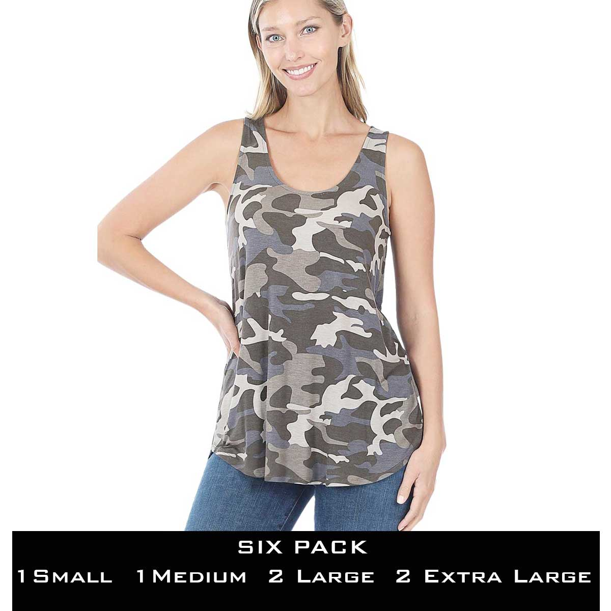 Tops- Sleeveless Round Hem Prints 430