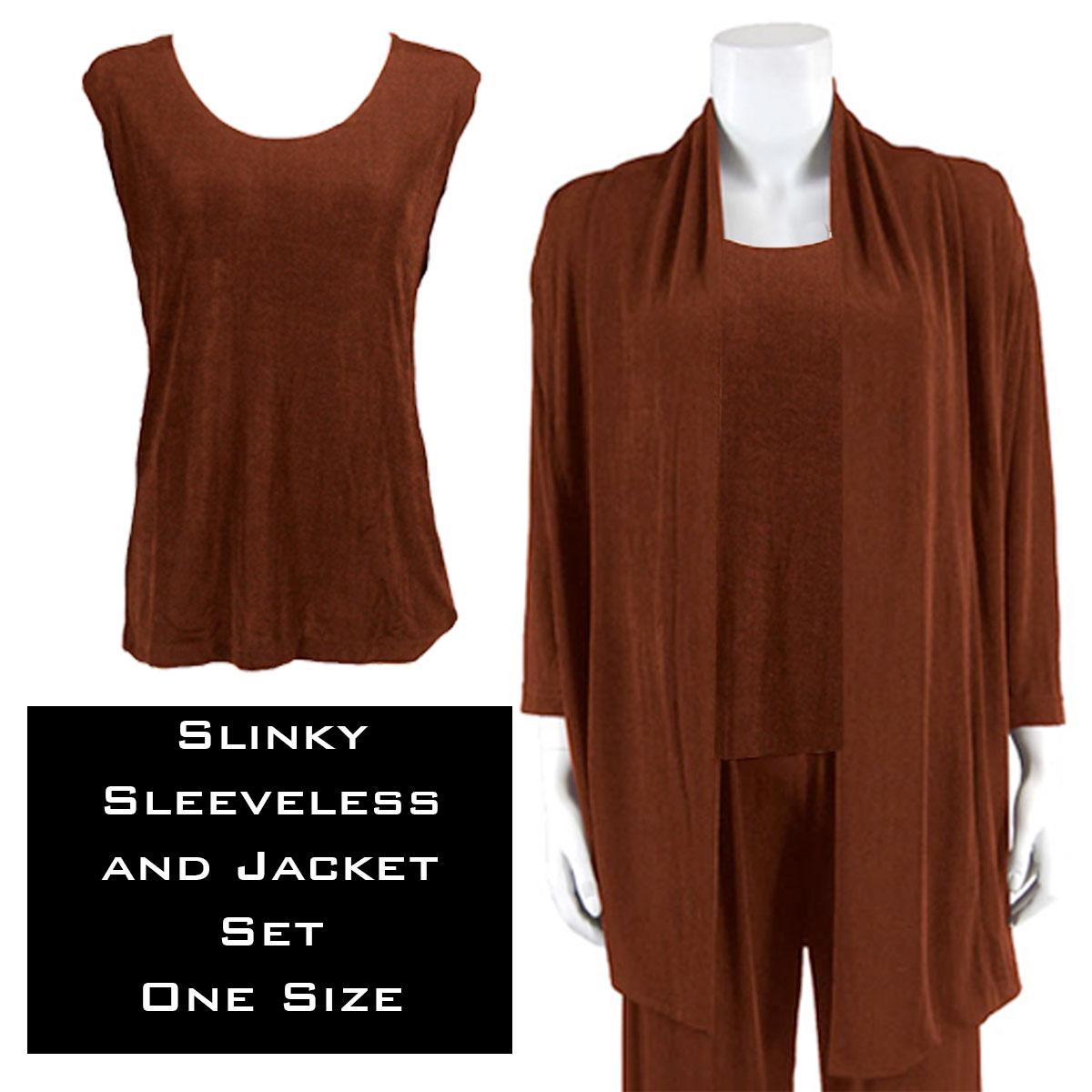 Slinky Jacket Set - BROWN Slinky Jacket Set