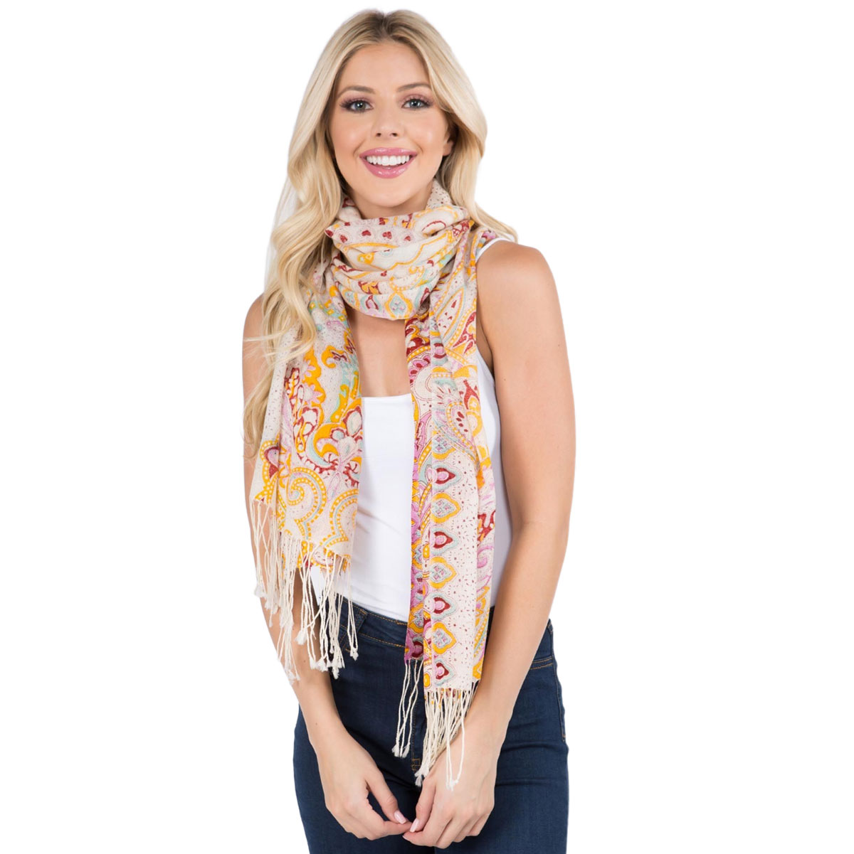 Scarf - Paisley Light Wool 902 /904