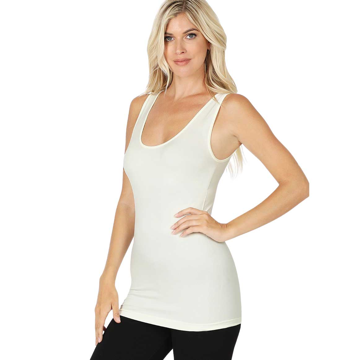 Form Fit Scoop Neck Seamless Tank Top 6700
