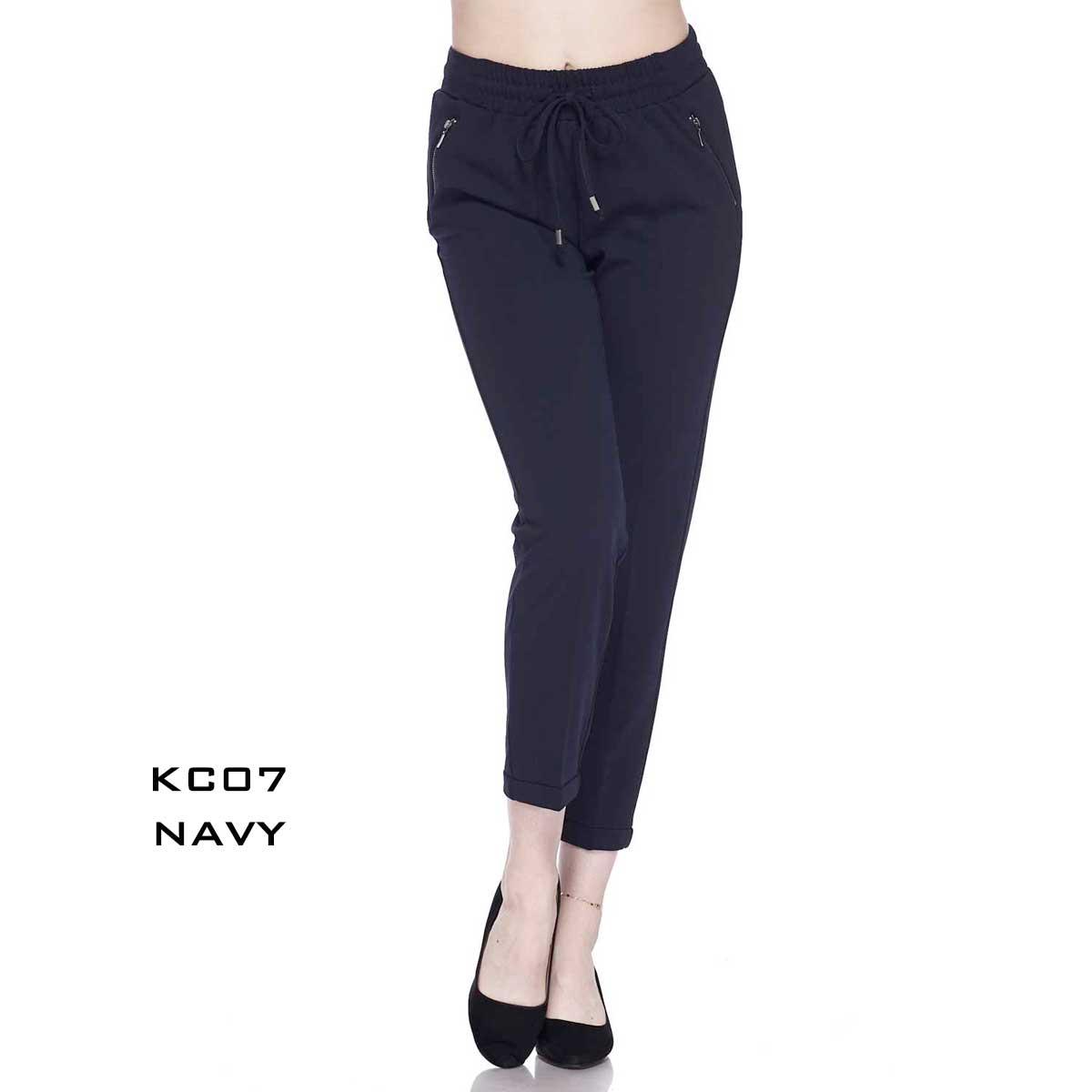 Pants - Drawstring Knit Crepe KC07