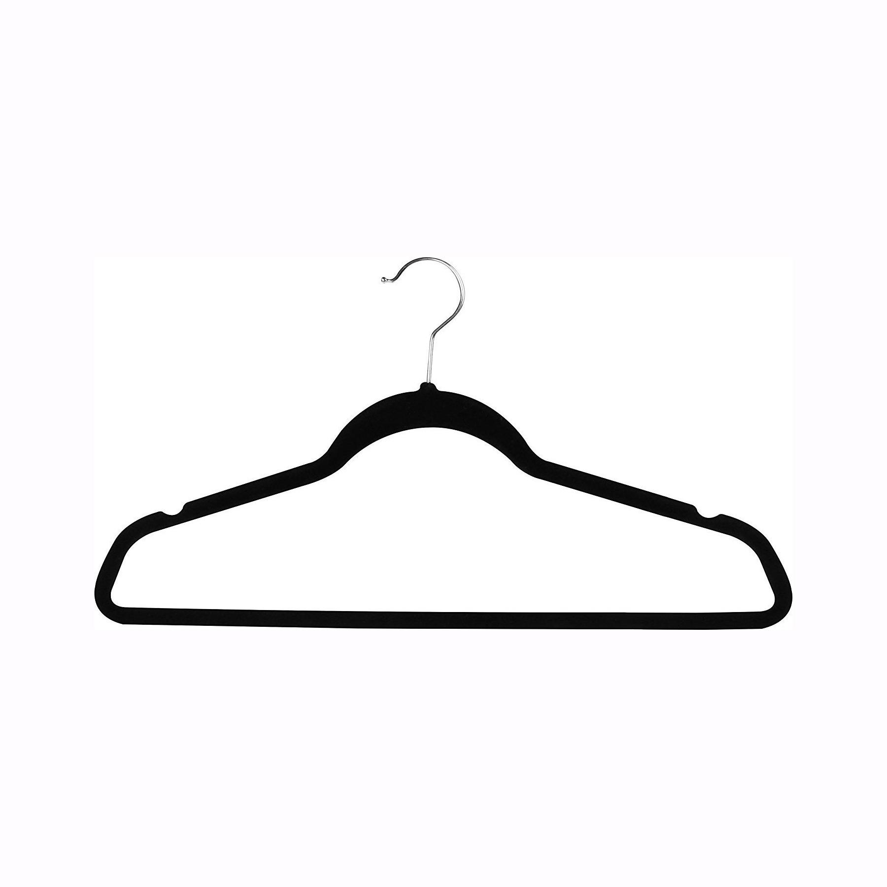 Wholesale Display & Merchandising (Many are Free) Black Velvet Hangers -