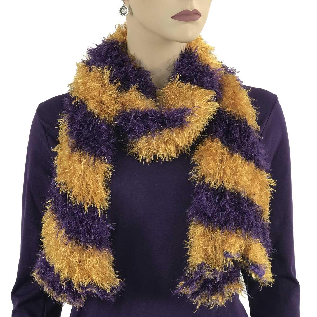 Wholesale Original Moa Boa Magic Scarves Stripes Purple-Honey -
