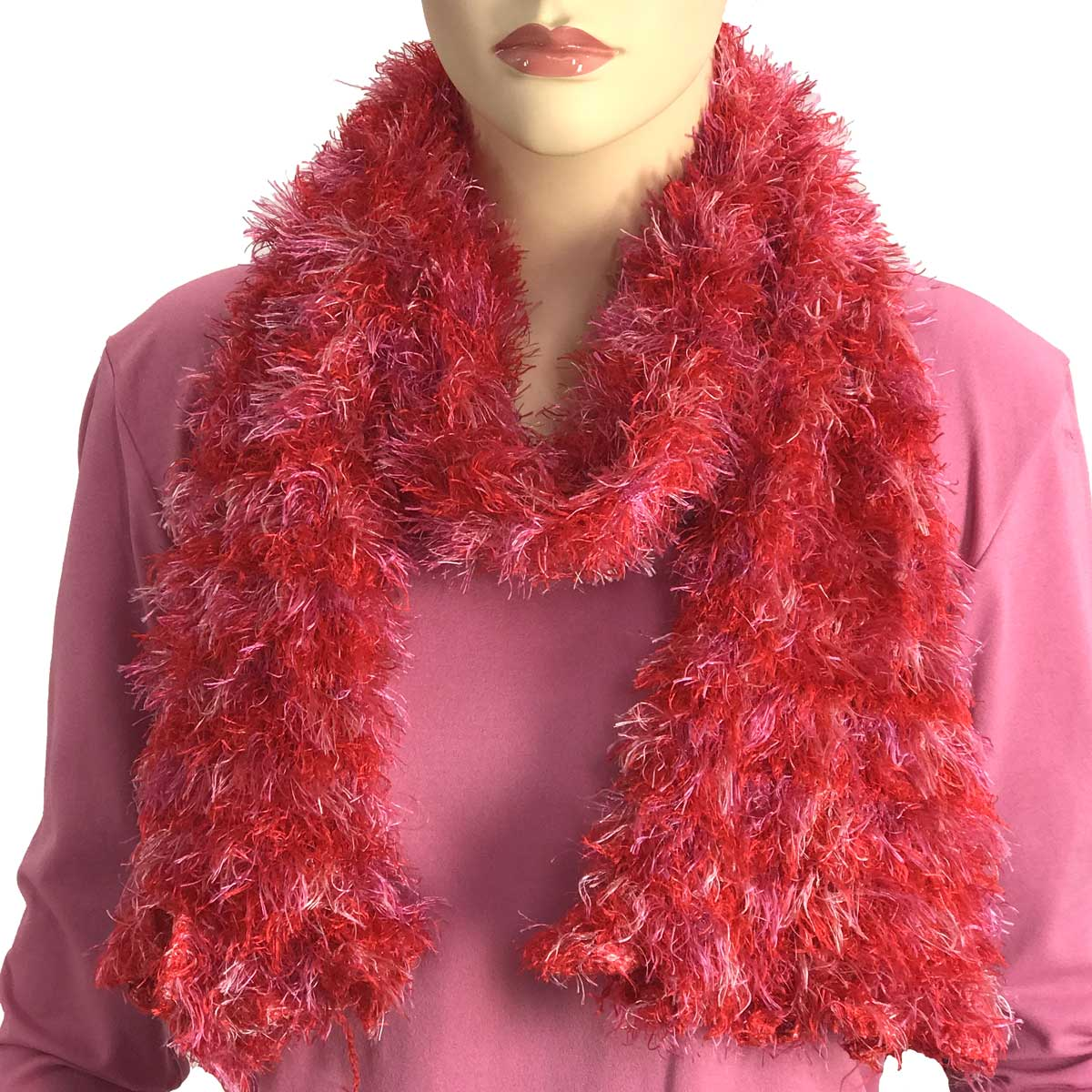 Wholesale Original Moa Boa Magic Scarves  Multi Red-Lavender Moa Boa Magic Scarf -