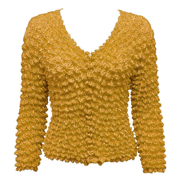 Wholesale Gourmet Popcorn - Collarless Cardigan Butterscotch - One Size (S-XL)