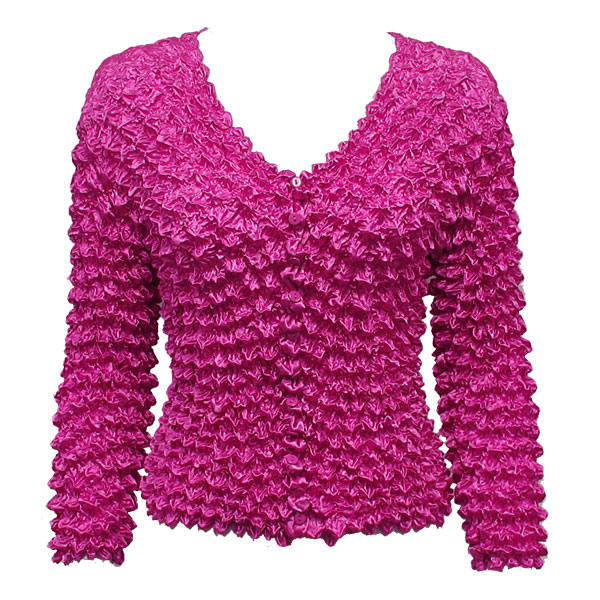 Wholesale Gourmet Popcorn - Collarless Cardigan Fuchsia - One Size (S-XL)