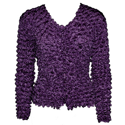 Wholesale Gourmet Popcorn - Collarless Cardigan Grape Juice - One Size (S-XL)
