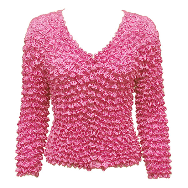 Wholesale Gourmet Popcorn - Collarless Cardigan Bubblegum - One Size (S-XL)