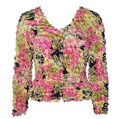 Wholesale Gourmet Popcorn - Collarless Cardigan Tropical Heat - One Size (S-XL)
