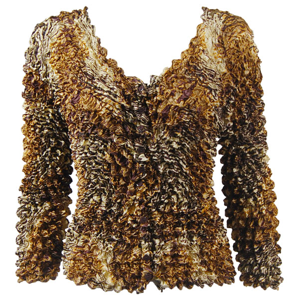 Wholesale Gourmet Popcorn - Collarless Cardigan Swirl Leopard - One Size (S-XL)