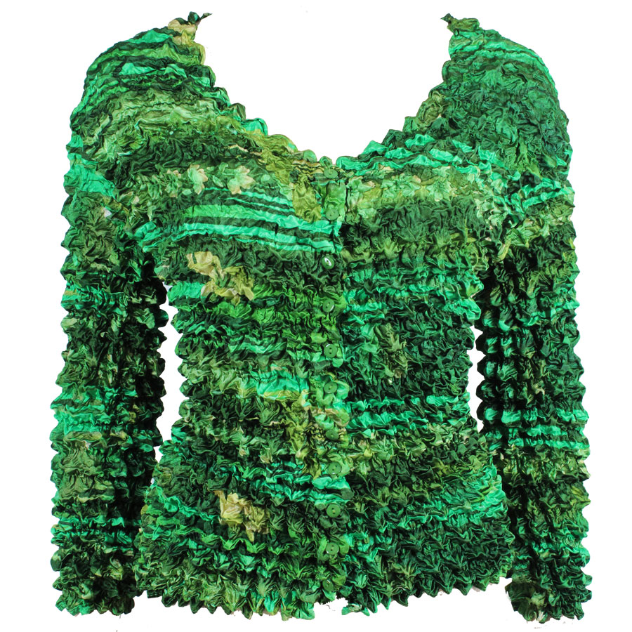 Wholesale Gourmet Popcorn - Collarless Cardigan Desert Print - Green - One Size (S-XL)
