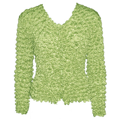 Wholesale Gourmet Popcorn - Collarless Cardigan Mint - One Size (S-XL)