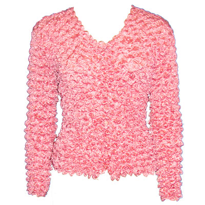 Wholesale Gourmet Popcorn - Collarless Cardigan Carnation - One Size (S-XL)