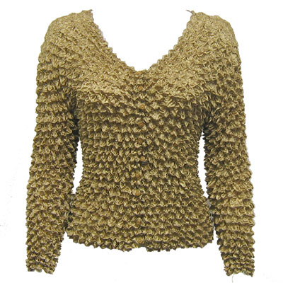 Wholesale Gourmet Popcorn - Collarless Cardigan Champagne - One Size (S-XL)