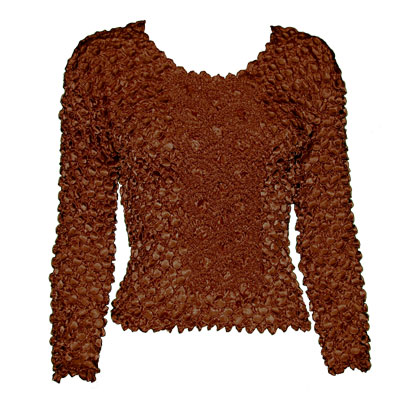 Wholesale Coin Fishscale - Long Sleeve Chestnut Coin Fishscale - Long Sleeve - One Size (S-XL)