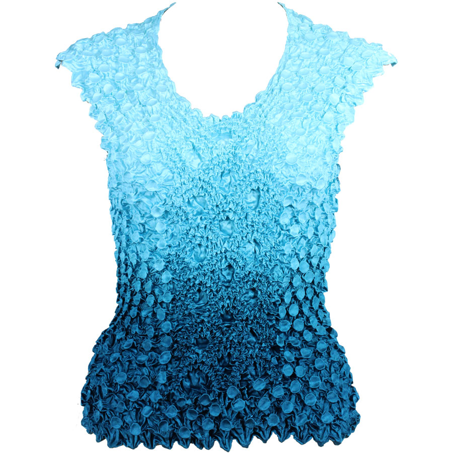 Wholesale Coin Fishscale - Sleeveless Variegated Teal Blue -