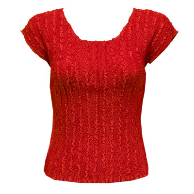 Wholesale Red Hatters Selections Cap Sleeve Magic Crush Silky Touch Red - One Size (S-L)