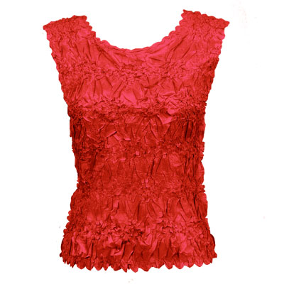 Wholesale Origami - Sleeveless Solid Red - One Size (S-XL)