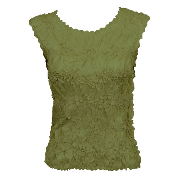 Wholesale Origami - Sleeveless Solid Olive - One Size (S-XL)