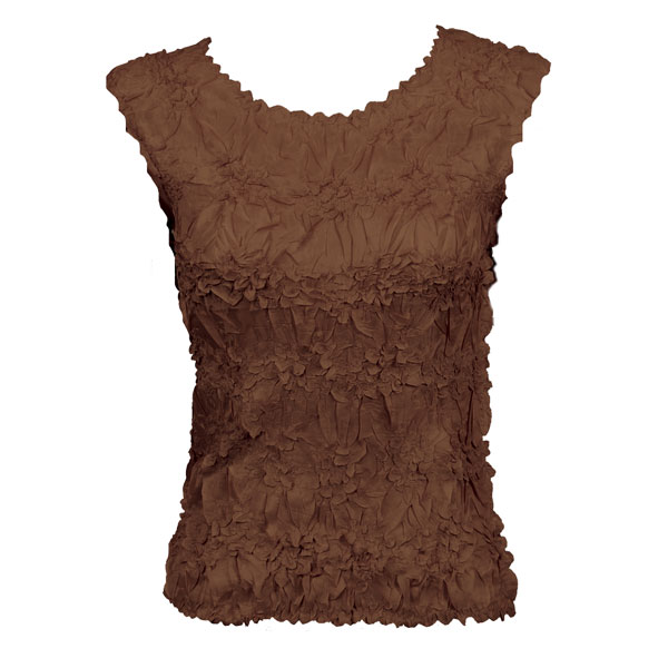 Wholesale Origami - Sleeveless Solid Brown - One Size (S-XL)