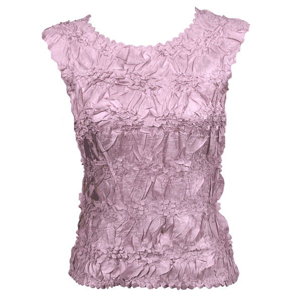 Wholesale Origami - Sleeveless Solid Lilac - Queen Size Fits (XL-3X)