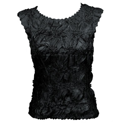 Wholesale Origami - Sleeveless Solid Black - Queen Size Fits (XL-3X)