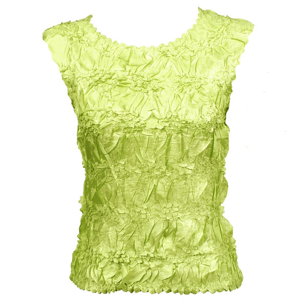 Wholesale Origami - Sleeveless Solid Lime - Queen Size Fits (XL-3X)