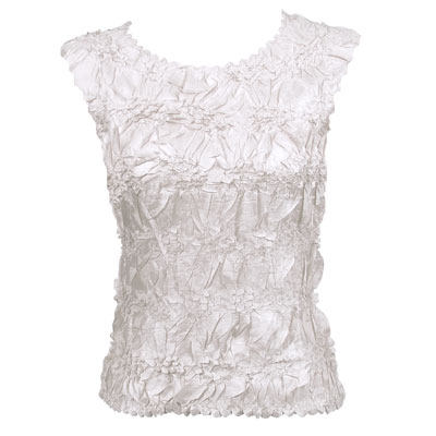 Wholesale Origami - Sleeveless Solid White - Queen Size Fits (XL-3X)