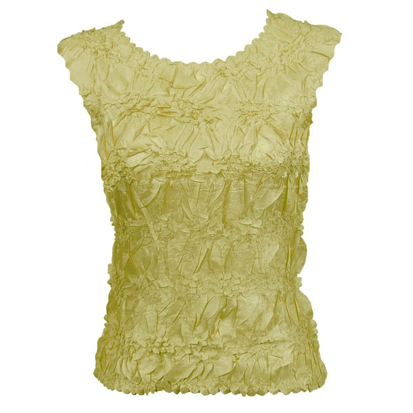 Wholesale Origami - Sleeveless Solid Lemon - Queen Size Fits (XL-3X)