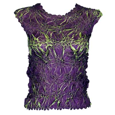 Wholesale Origami - Sleeveless Plum - Spring Green - Queen Size Fits (XL-3X)