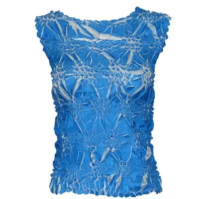 Wholesale Origami - Sleeveless Cornflower Blue - White - Queen Size Fits (XL-3X)