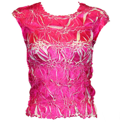 Wholesale Origami - Sleeveless Pink - White - Queen Size Fits (XL-3X)