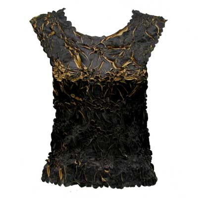 Wholesale Origami - Sleeveless Black - Taupe - Queen Size Fits (XL-3X)
