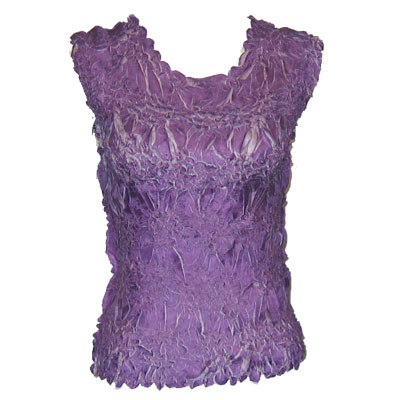 Wholesale Origami - Sleeveless Purple - Lilac - Queen Size Fits (XL-3X)