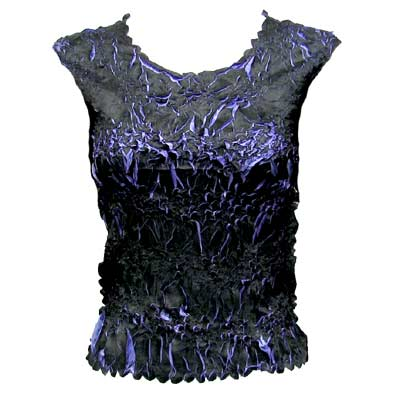 Wholesale Origami - Sleeveless Black - Periwinkle - Queen Size Fits (XL-3X)