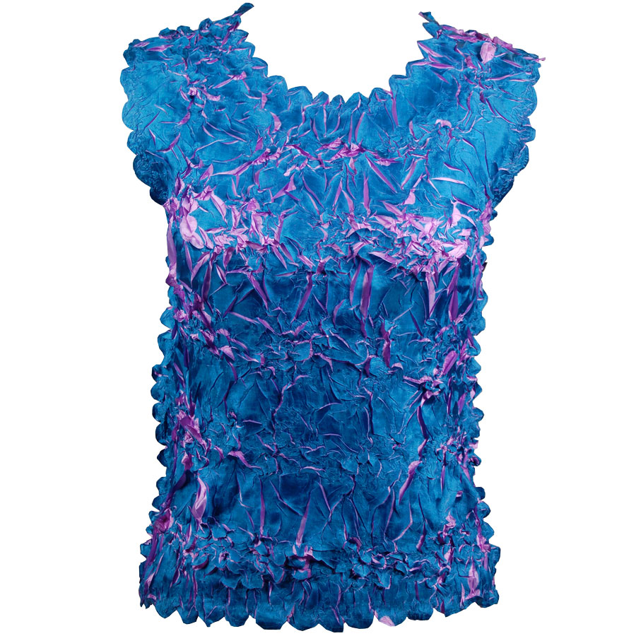 Wholesale Origami - Sleeveless Dark Teal - Lilac - One Size (S-XL)