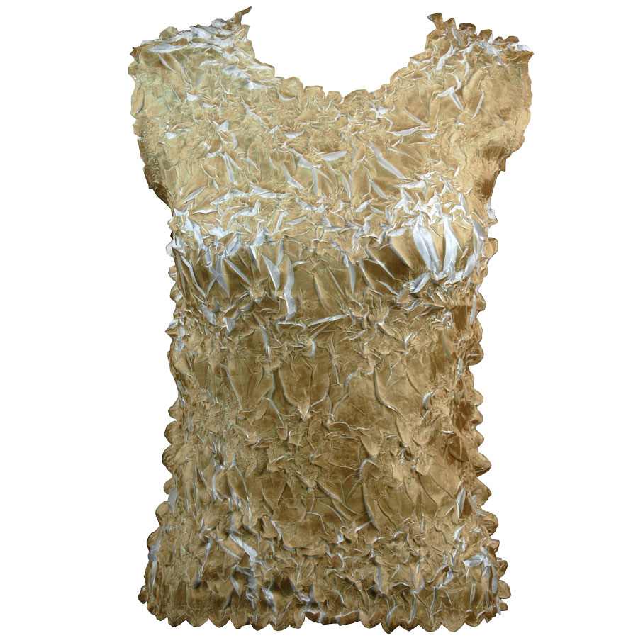 Wholesale Origami - Sleeveless Light Gold - White - One Size (S-XL)