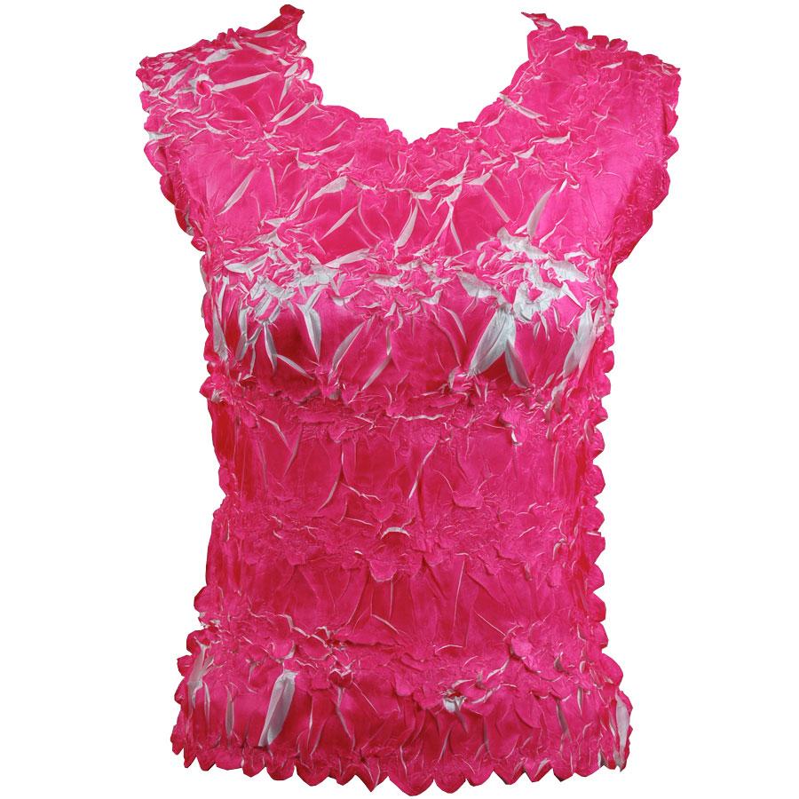 Wholesale Origami - Sleeveless Hot Pink - White - One Size (S-XL)