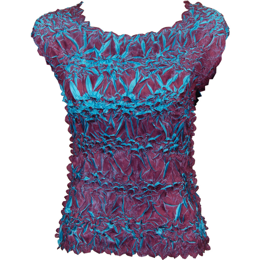 Wholesale Origami - Sleeveless Plum - Teal - One Size (S-XL)