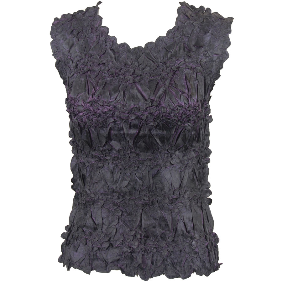 Wholesale Origami - Sleeveless Black - Plum - One Size (S-XL)
