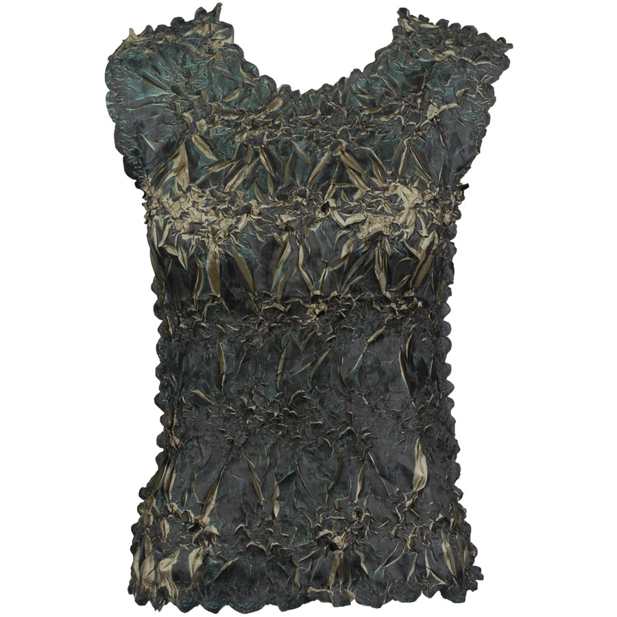 Wholesale Origami - Sleeveless Dark Olive - Olive - One Size (S-XL)