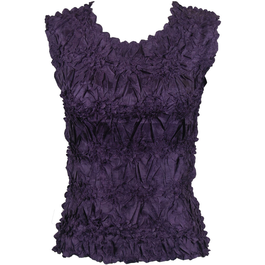 Wholesale Origami - Sleeveless Solid Plum - One Size (S-XL)