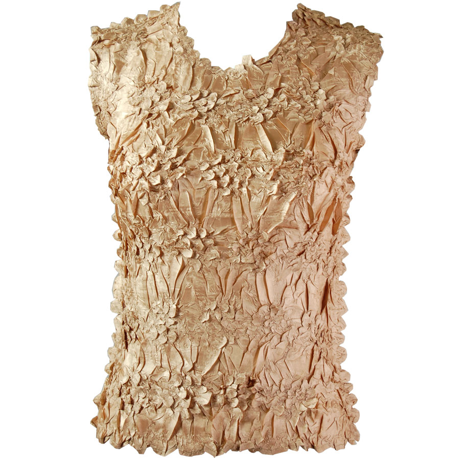 Wholesale Origami - Sleeveless Solid Gold - Queen Size Fits (XL-3X)