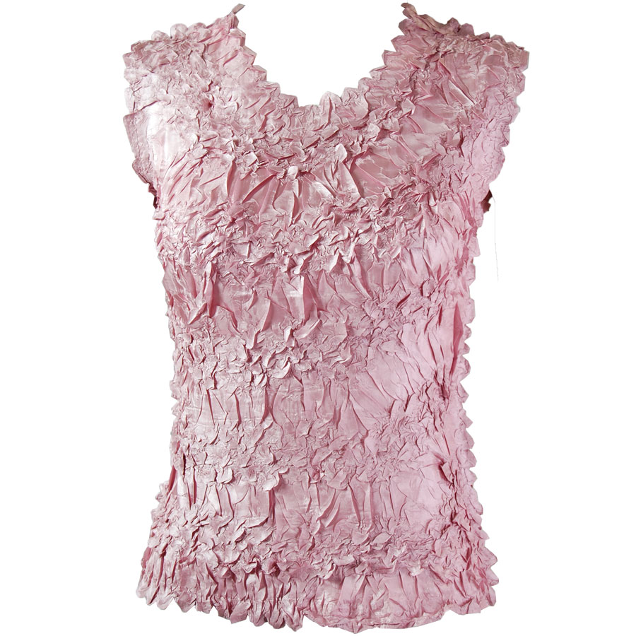 Wholesale Origami - Sleeveless Solid Dusty Pink - One Size (S-XL)