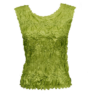 Wholesale Origami - Sleeveless Solid Leaf Green - Queen Size Fits (XL-3X)