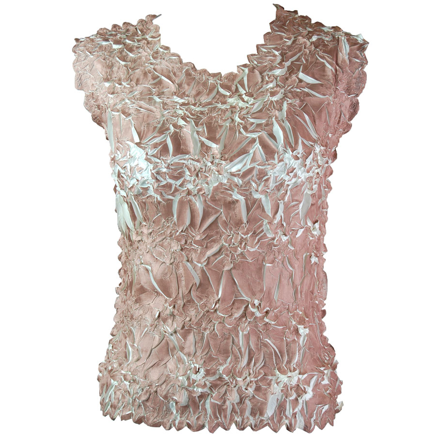 Wholesale Origami - Sleeveless Brown - Ivory - One Size (S-XL)