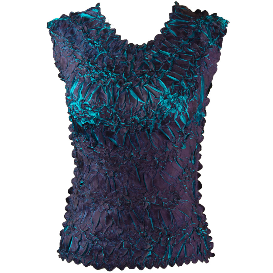 Wholesale Origami - Sleeveless Dark Purple - Teal - Queen Size Fits (XL-3X)