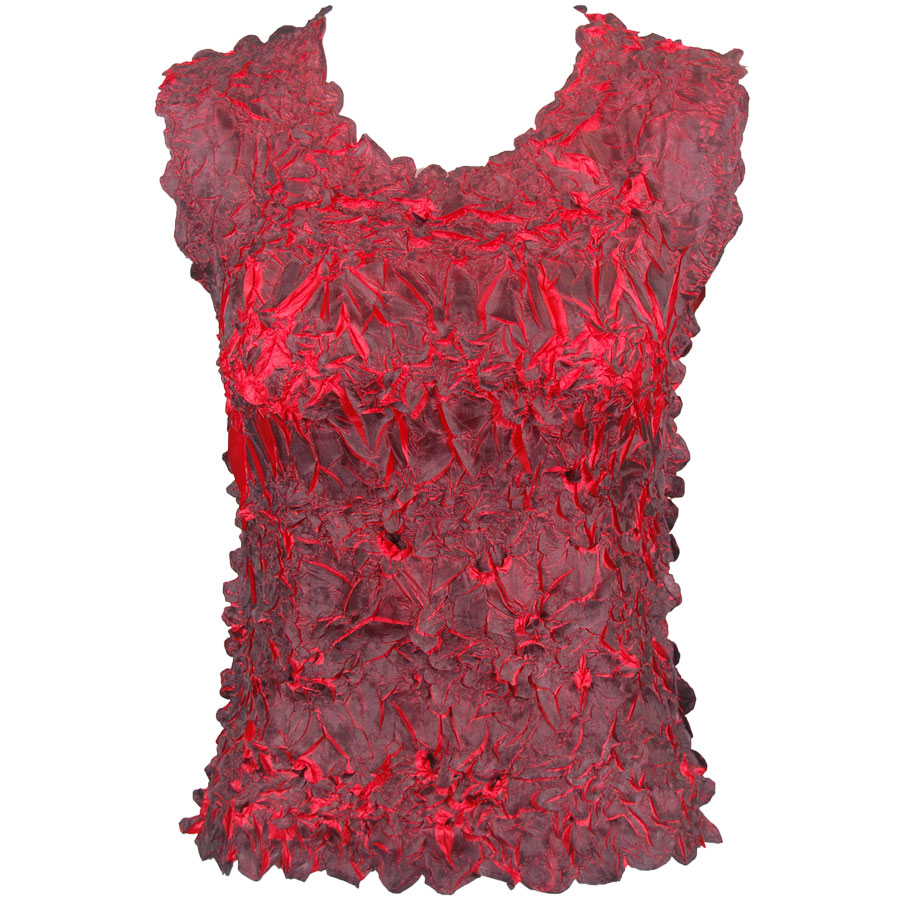 Wholesale Origami - Sleeveless Black - Red - Queen Size Fits (XL-3X)